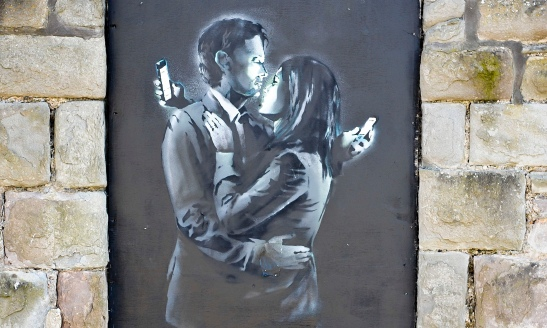 Mobile Lovers appeared in April on a doorway by Broad Plain Working With Young People