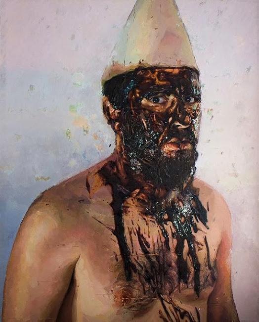 1.Víctor Solana, El hombre del Subsuelo, óleo sobre lienzo, 2013 Room Art Fair