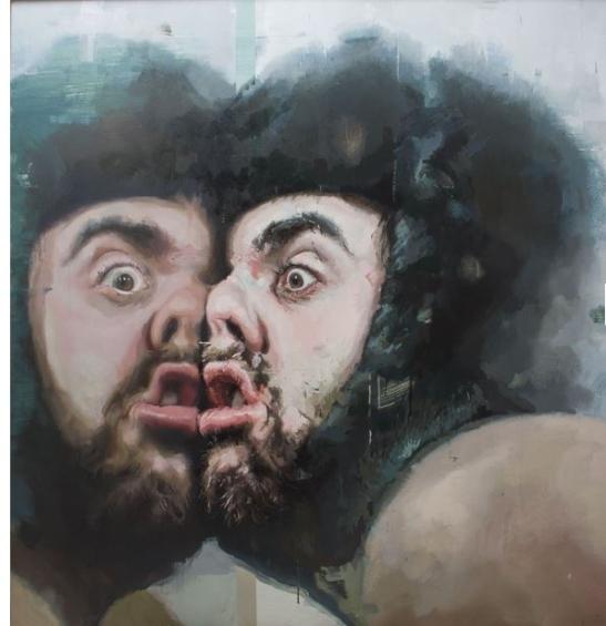 6, Caracter con doble, oleo sobre lienzo, 2012