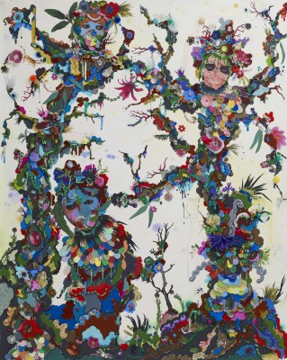 Alicia Paz, Le Jardin des Hesperides, 2013, Mixed media on paper, 153 x 121.5 x 3.5 cm,_1
