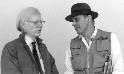 Joseph Beuys con Andy Warhol