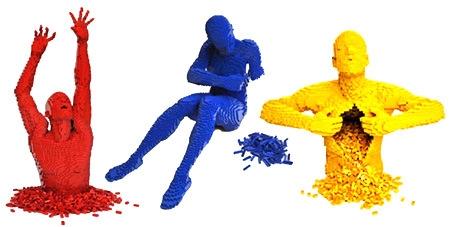 5. Red, Blue, yellow lego-brick-nathan-sawaya1