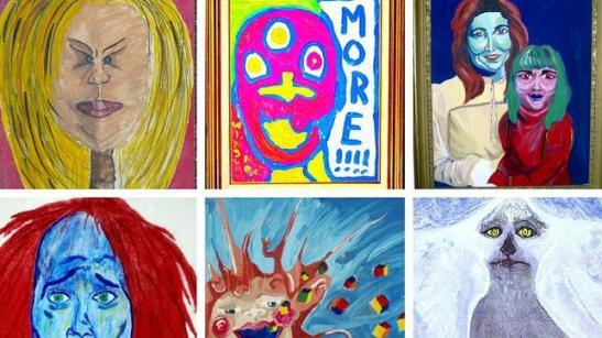 Obras expuestas en el Museum of Bad Art en Boston (EEUU)