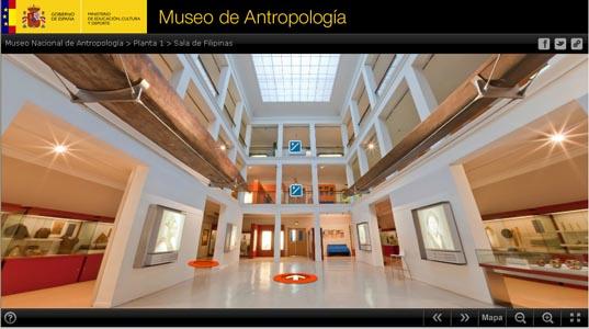 Visita virtual que ofrece el Ministerio de Educación, Cultura y Deporte del Museo Antropológico