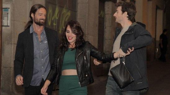 Fotograma de la película `Los miércoles no existen´.  William Miller, Andrea Duro y Gorka Otxoa
