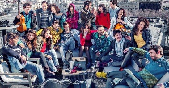 Reparto teatral de `Los miércoles no existen´. Sesión de fotos de Natxo López para la 4ª temporada