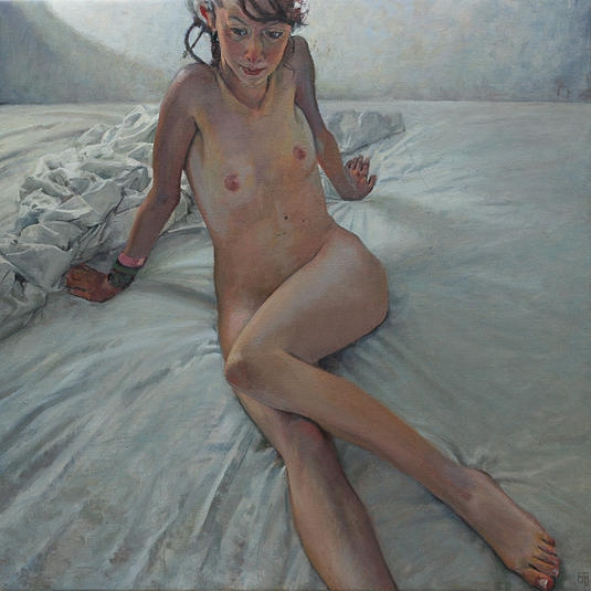 big bed, oil on linen, 91.5x915cm