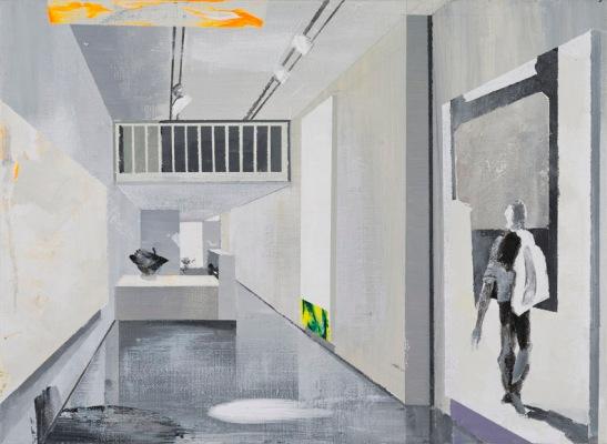 Alfonso Albacete, Joc 6. Pintura histórica, 2015, acrilico sobre lienzo, 24x33cm.