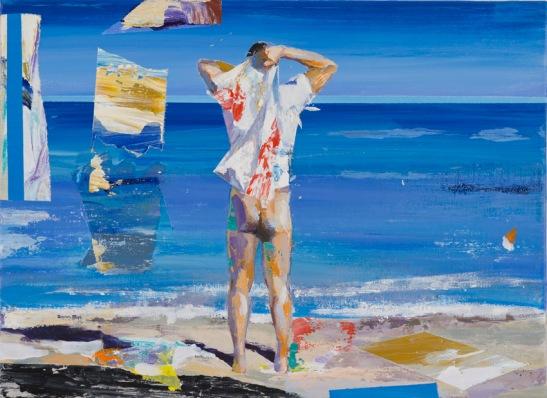 Alfonso Albacete, Joc 8. Liturgia, 2015, acrilico sobre lienzo, 24x33cm