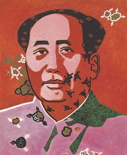Yu Youhan, Mao in rose, 1992