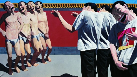 Yue Minjun, The execution, 1995