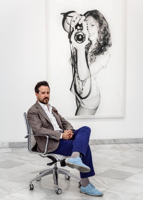 Fotorgrafía de Juan Francisco Casas en la Galería Fernando Pradilla de Madrid. 2014 (de Rosa Copado)