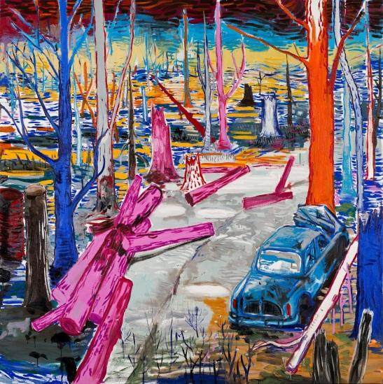 Abraham Lacalle, Gordini, 2016, óleo sobre lienzo, 200 x 200cm