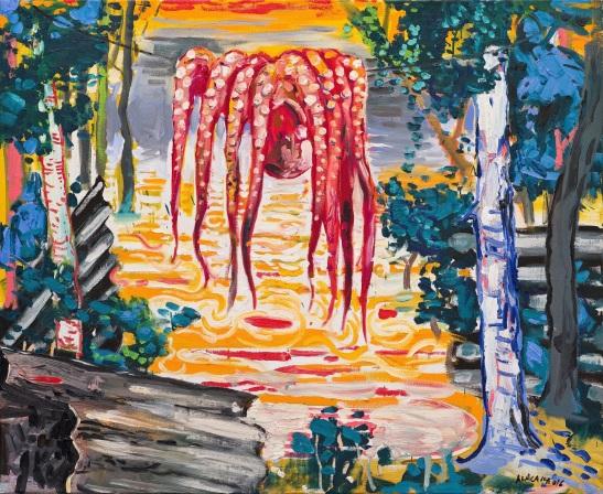 Abraham Lacalle, Pulpo, 2016, óleo sobre lienzo, 90 x 110 cm