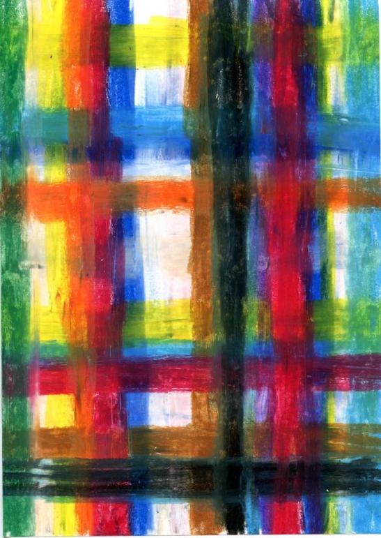 Sin Título. 30X21 cm. Tiza de colores sobre papel. 2003