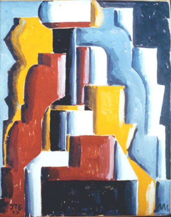 Formas abstractas ensambladas 1937, (100x80 cm) Témpera sobre cartón. MOMA © MOMA