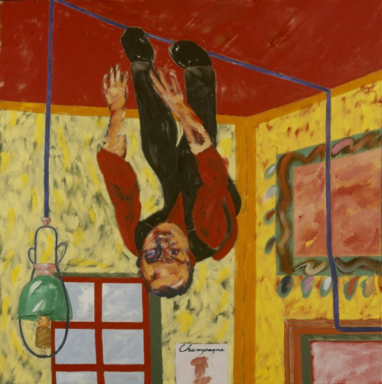R.B-Kitaj,-The-Man-on-the-Ceiling, 1989, óleo sobre lienzo, 122,6x122,6cm